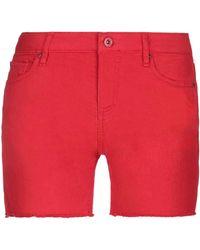 Armani Exchange Shorts vaqueros - Rojo