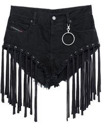 DIESEL Shorts vaqueros - Negro