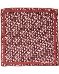 KENZO Square Scarf - Red