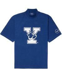 CALVIN KLEIN 205W39NYC Yale Cotton-jersey T-shirt - Blue