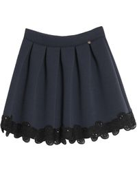 Just For You Knee Length Skirt - Blue