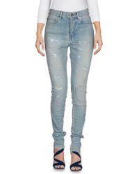 Saint Laurent Denim Pants - Blue