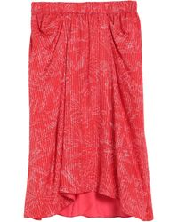 Giorgio Armani Midi Skirt - Red