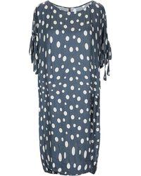 Manila Grace Short Dress - Blue