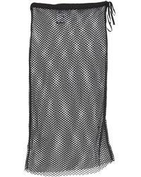 Ann Demeulemeester Midi Skirt - Black