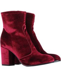 Lemarè Ankle Boots - Red