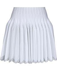 Alaïa Mini Skirt - White