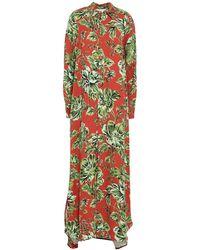 AMI Langes Kleid - Rot