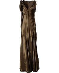 Lanvin Robe longue - Marron