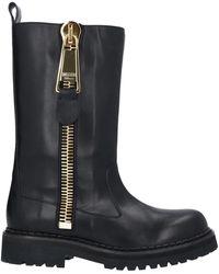 Moschino Knee Boots - Black