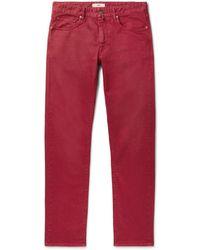 Incotex Denim Trousers - Red