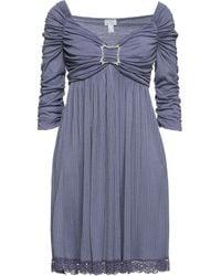 Philosophy di Alberta Ferretti Short Dress - Purple