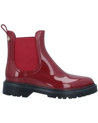 Lemon Jelly Ankle Boots - Red