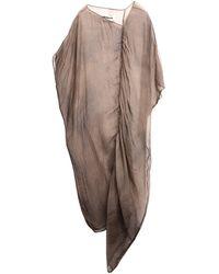 Uma Wang Robe mi-longue - Marron