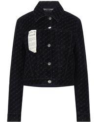 Stella McCartney Manteau en jean - Noir