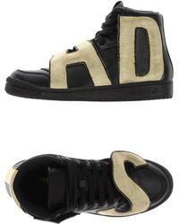 Jeremy Scott for adidas - Leather High-Top Trainers - Lyst