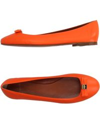 Mulberry Ballet Flats - Orange