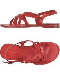 L'artigiano Del Cuoio Sandals - Red