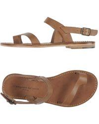 L'artigiano Del Cuoio Toe Strap Sandal - Brown