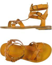 L'artigiano Del Cuoio Sandals - Orange