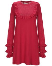 SCEE by TWINSET Short Dress - Red