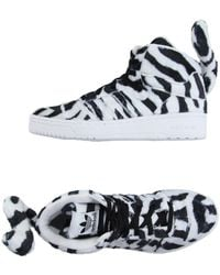 Jeremy Scott for adidas - Zebra-Print High-Top Trainers - Lyst