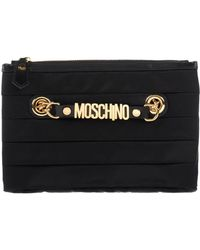 Moschino Quilted Makeup Bag - Black