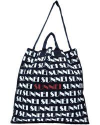 Sunnei - Logo Print Shopper Tote - Lyst