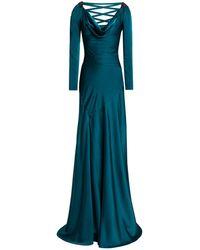 Jenny Packham Langes Kleid - Blau