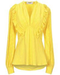 MSGM Blouse - Yellow