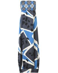 Manila Grace Long Dress - Blue