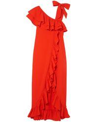 Ganni Long Dress - Red