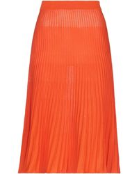 Bruno Manetti 3/4 Length Skirt - Orange