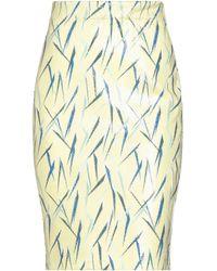 Alessandro Dell'acqua Midi Skirt - Yellow