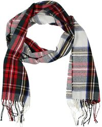 European Culture Oblong Scarf - Red