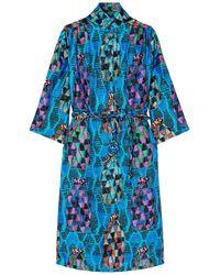 Rianna + Nina Knielanges Kleid - Blau