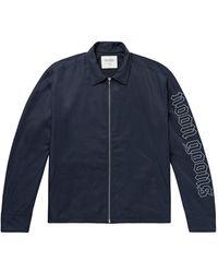 Noon Goons Logo-print Shell Jacket - Blue