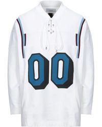 Facetasm Sweatshirt mit Schnürung - Weiß