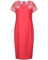 Maria Grazia Severi 3/4 Length Dress - Red