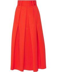Tibi 3/4 Length Skirt - Red