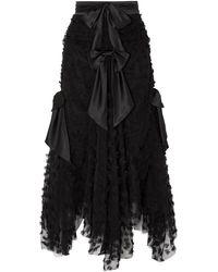 Rodarte Falda larga - Negro