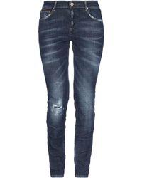 Care Label Denim Pants - Blue