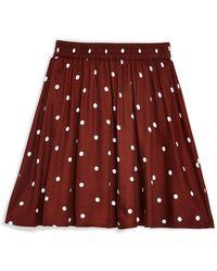 TOPSHOP Mini Skirt - Brown