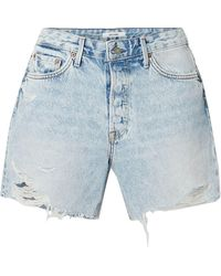 GRLFRND Denim Shorts - Blue