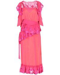 Marco De Vincenzo Long Dress - Pink