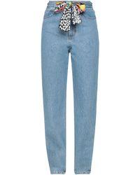 be Blumarine Denim Trousers - Blue