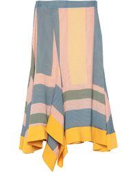MYKKE HOFMANN 3/4 Length Skirt - Multicolor