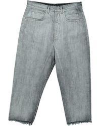 Rick Owens DRKSHDW Jean raccourci - Gris