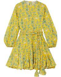 RHODE Kurzes Kleid - Gelb