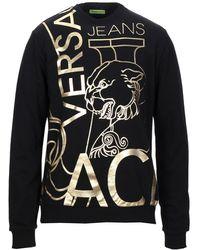Versace Sweatshirt mit goldfarbenem Foliendruck - Schwarz